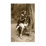 Ligón del francés - la lectura modela del chica de tarjetas postales