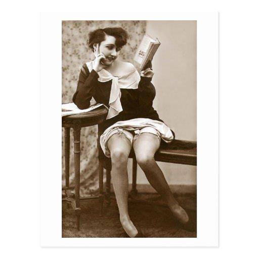 Ligón del francés - lectura modela del chica del v postal