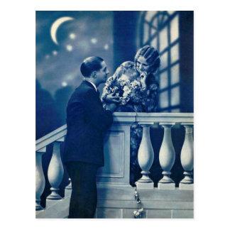 Ligón del francés - postal romántica del vintage