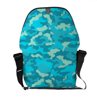 Ligt Blue Army Military Camo Camouflage Pattern Messenger Bag