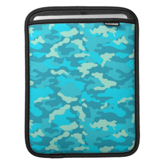 Ligt Blue Army Military Camo Camouflage Pattern Sleeve For iPads