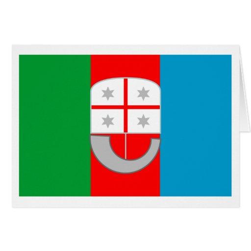 Liguria flag card