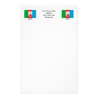 Liguria flag with name customized stationery