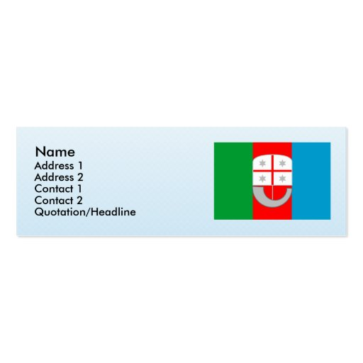 Liguria, Italy Double-Sided Mini Business Cards (Pack Of 20)