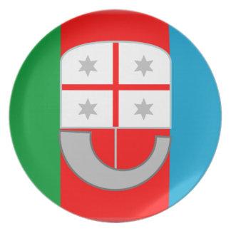 Liguria (Italy) Flag Dinner Plate