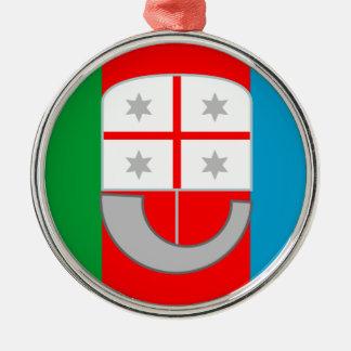 Liguria (Italy) Flag Metal Ornament