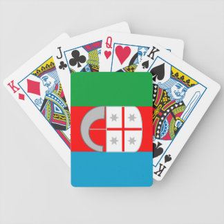 Liguria (Italy) Flag Poker Cards