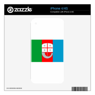 Liguria (Italy) Flag Skins For iPhone 4