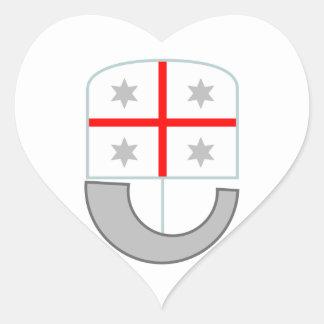 Liguria (Italy) Heart Sticker