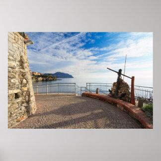 "Liguria - ""promenade"" en Sori Poster"