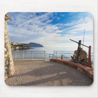 Liguria - promenade in Sori Mouse Pad