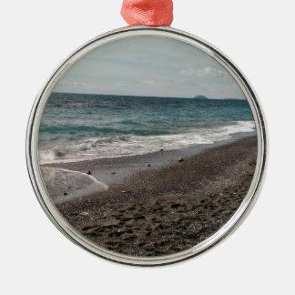 Ligurian Sea Metal Ornament