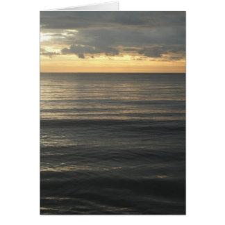 Ligurian Sea Sunset Card