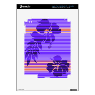 Lihue Hibiscus Stripe Hawaiian iPad 3 /Tablet Skin iPad 3 Decal
