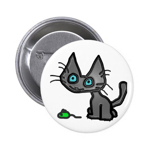 Liittle Kitty Cat And His Toy Mouse Pins