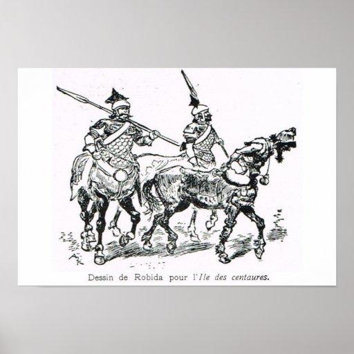 L'Iiustration 1931, batalla de los centaurs Posters