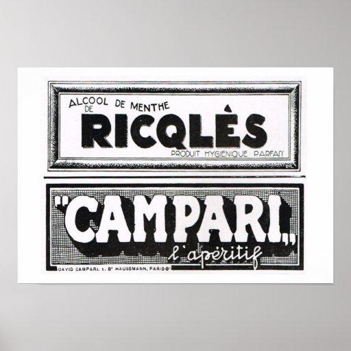 L'Iiustration 1931, Ricqles, Campari Poster