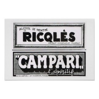 L'Iiustration 1931, Ricqles, Campari Posters
