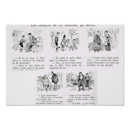 L'Iiustration 1931, tira de dibujo animado Posters