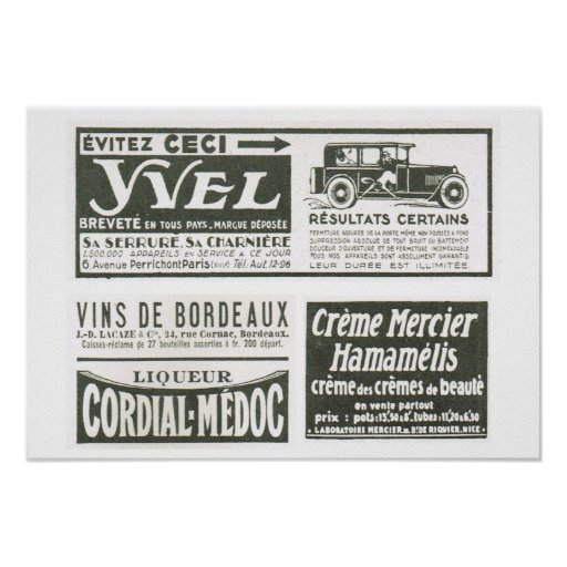 L'Iiustration 1931, Yvel, Medoc Posters