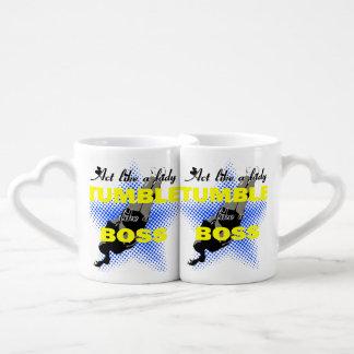 Lika de la caída una animadora de Boss Set De Tazas De Café