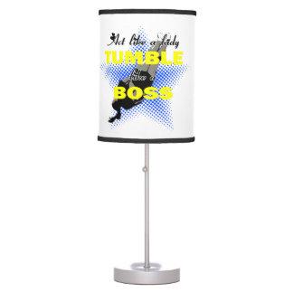 Lika de la caída una animadora del jefe lámpara de mesa