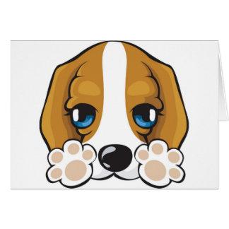 likable doggie,purp,dog greeting card