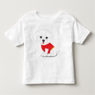 likable doggie,purp toddler t-shirt