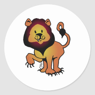 Likable Lion Classic Round Sticker