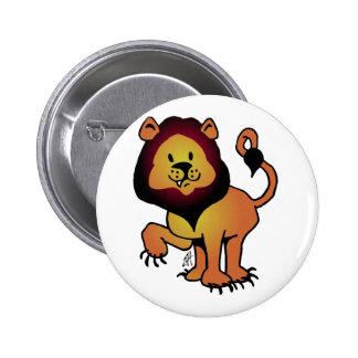 Likable Lion Pinback Button
