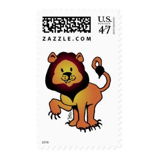 Likable Lion Postage Stamp
