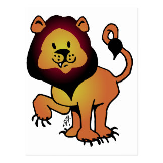 Likable Lion Postcard