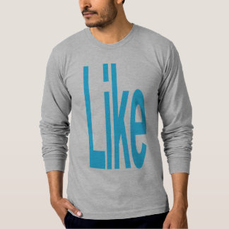 Like 2ptO ltbl gry lngslv mn DOUBLE SIDED T-Shirt