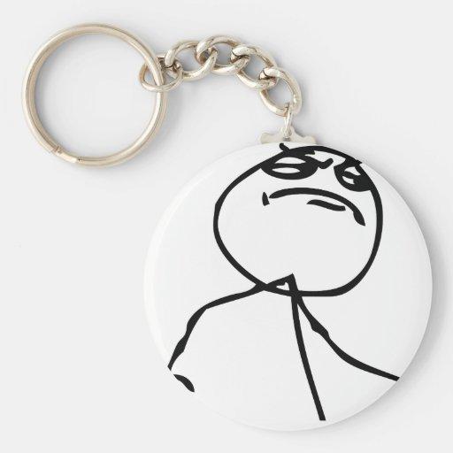 Like a Boss Basic Round Button Keychain
