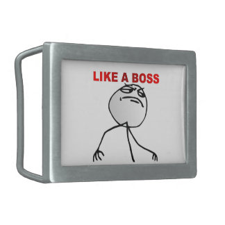Like a boss rectangular belt buckles
