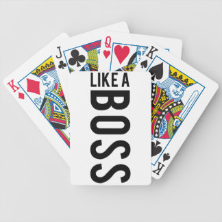LIKE a BOSS Bicycle Playing Cards