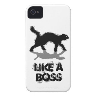 like a boss black cat funny case iPhone 4 covers