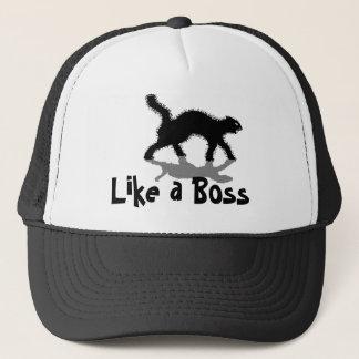 like a boss black cat funny hat