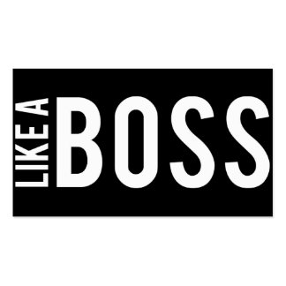LIKE a BOSS Double-Sided Standard Business Cards (Pack Of 100)