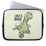Like a Boss Dinosaur Laptop Sleeve