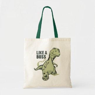 Like a Boss Dinosaur Tote Bag