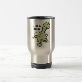 Like a Boss Dinosaur Travel Mug