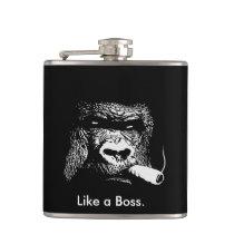 Like a Boss Gorilla Smoking Flask