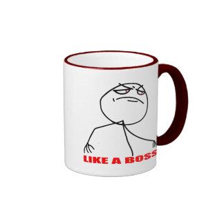 like a boss internet meme comic rage ringer mug
