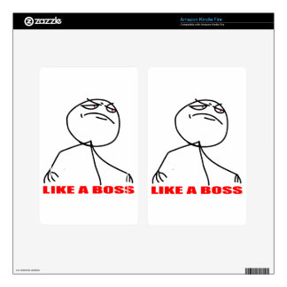 Like a boss meme face kindle fire decals