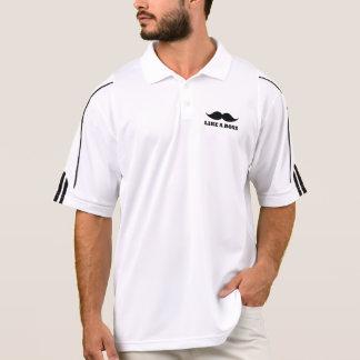 LIKE A BOSS, moustache design Polo Shirt