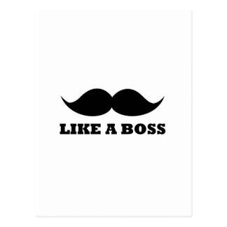 LIKE A BOSS moustache design Postcards