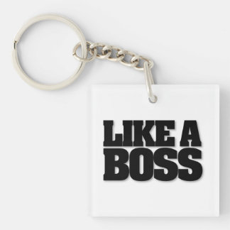 LIKE A BOSS, moustache key ring Keychain