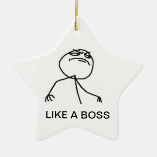 LIKE A BOSS NECK LACE CERAMIC ORNAMENT