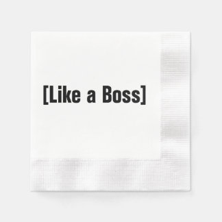 Like a Boss Coined Cocktail Napkin